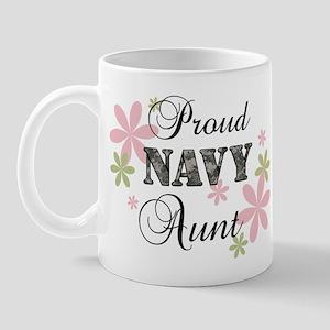 Navy Aunt [fl camo] Mug